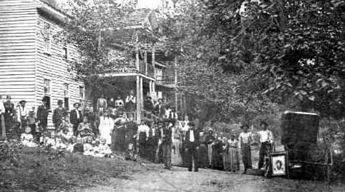 Gathering at a Hotel in White Oak Flats - Now Known as Gatlinburg